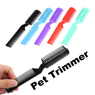 Pet Dog Cat Hair Trimmer Comb Razor Grooming Comb J
