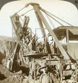 Minnesota ~ HIBBING ~ A Five Ton Steam Shovel In An Open Pit Iron Mine