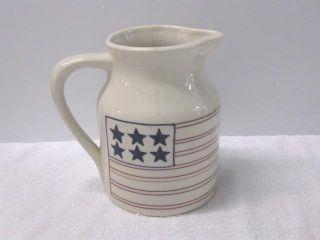 Hartstone Pottery  Stars and Stripes 64 oz Pitcher