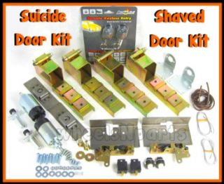 DOOR SUICIDE HIDDEN HINGES LATCHES AND 80 lbs SHAVED DOOR KIT