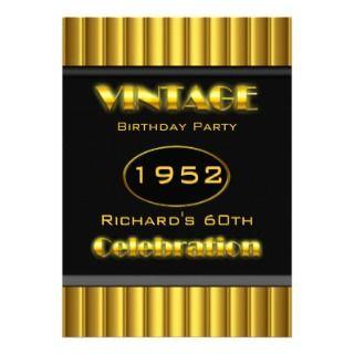 Celebración del negro 60 del oro amarillo del vint anuncio