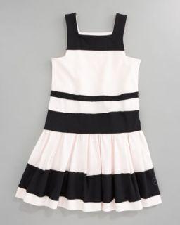 Z0XQL Baby Dior Striped Jersey Dress, Sizes 2 4