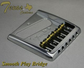 Customs Smooth Play 6 Saddle Bridge High Quality also fits fender tele