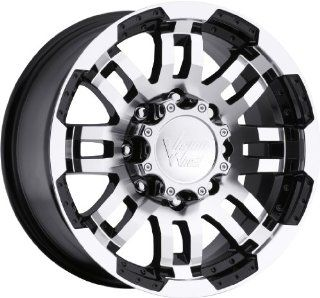 Vision Warrior 17 Black Wheel / Rim 5x5 with a 25mm Offset and a 78.1