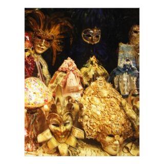 Venetian Carnival Masks   Venice, Italy Personalized Letterhead