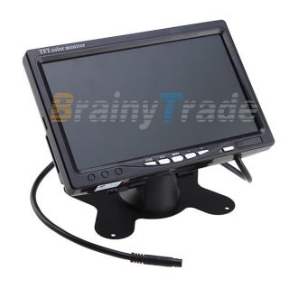 LCD Color Car Parking Rearview Headrest Monitor DVD VCR Camera