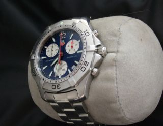 Tag Heuer Mens Aquaracer Watch 300 Meter Diving Sport Blue