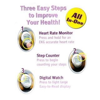 Smart Health Heart Rate Monitor Pedometer Watch Step Counter Exercise
