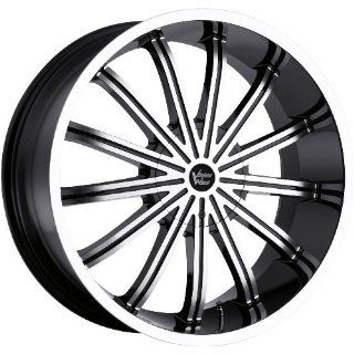 Vision Xtacy 22 Machined Black Wheel / Rim 5x5 & 5x135 with a 15mm