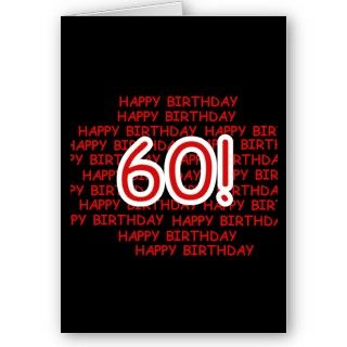 Black, red, and white Happy 60th Birthday design on 60th birthday T
