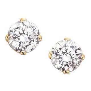 1 ct. L  I1 Round Brilliant Cut Diamond Earring Studs in