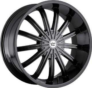 Vision Xtacy 20 Black Wheel / Rim 5x4.5 & 5x4.75 with a 15mm Offset
