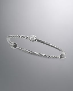 David Yurman 5mm Pave Black Diamond Cable Bracelet