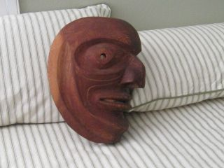 Native North American Canadian Hand Made Wood Mask