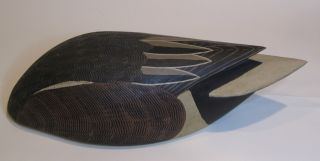 Feeding Widgeon Baldpate Hand Carved Wooden Duck Decoy Pocomoke MD