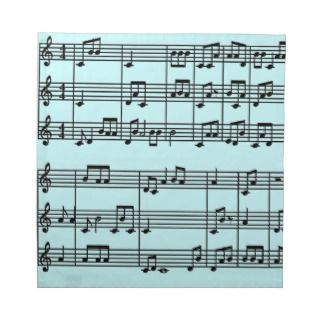 Musical Score Design Napkins