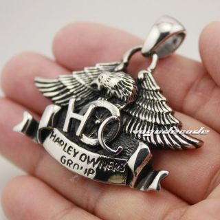 Cool 316L Stainless Steel Hawk Eagle Men`s Pendant 3V002 Biker