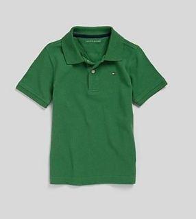 NWT NEW Tommy Hilfiger Boys Large L 16/18 Dark Green Polo Shirt