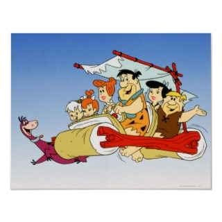 Fred Flintstone Wilma Barney and Betty Pebbles Bam Poster
