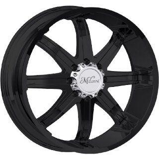 Milanni Kool Whip 8 20 Matte Black Wheel / Rim 8x6.5 with a 18mm