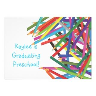 Preschool Kindergarten Graduation Colored Pencils Personalized