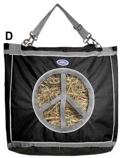 Originals Peace Lovin Heavy Duty Horse Hay Bags SUPER DEAL Black/Grey