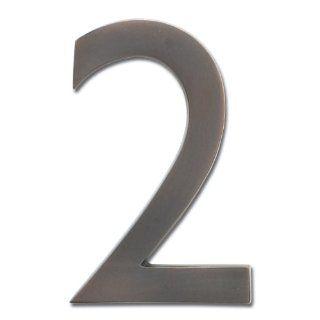 Modern House Number Aluminum Modern Font Number Four 4 6