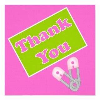 Personalized Baby shower thank you cards 2 sided Custom Announcements