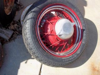 Salt Flats Hot Rod Kelsey Hayes Knockoff Wire Wheel Hubcaps 1935 Rat