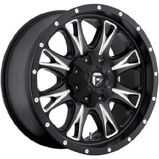 Fuel Throttle 18x10 Black Wheel / Rim 8x6.5 with a  12mm Offset and a