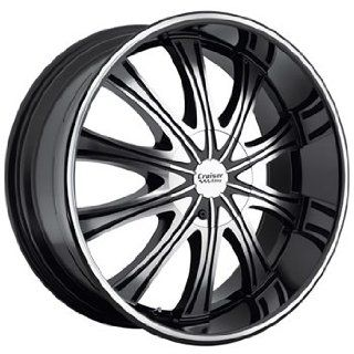 Cruiser Alloy Slice 20x9 Black Wheel / Rim 6x135 & 6x5.5 with a 25mm