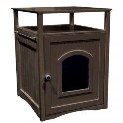 Products Pet Cat Washroom Night Stand Litter Box Enclosure Espresso