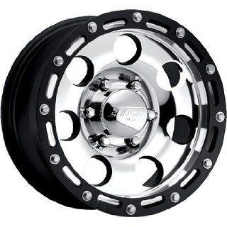 American Eagle 137 17 Super Finish Black Wheel / Rim 6x5.5 with a  4mm