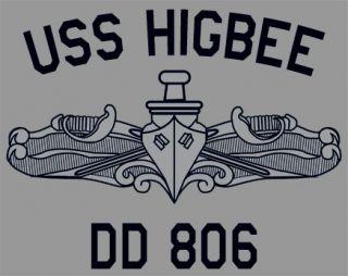 US USN Navy USS Higbee DD 806 Destroyer T Shirt