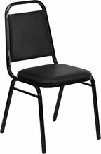NEW HEAVY DUTY METAL BLACK VINYL SEAT STACK BANQUET CHAIRS EACH