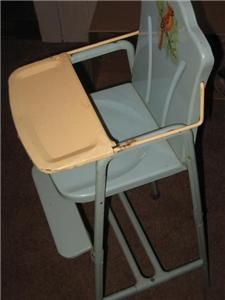 Vtg 50s 60s Happi Time Metal Doll High Chair  Roebuck & Co