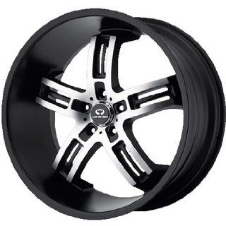 Lorenzo WL026 19x8 Black Wheel / Rim 5x120 with a 45mm Offset and a 74