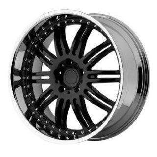 KMC KM127 22x9.5 Black Wheel / Rim 5x112 with a 18mm Offset and a 66