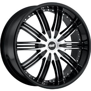 Avenue A603 24 Black Machined Wheel / Rim 6x5.5 with a 18mm Offset and