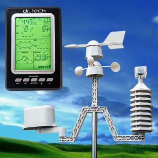 Dr. Tech Professional Wireless Weather Station Forecaster w/ Solar