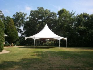 35 x 40 HEXAGON FRAME TENT HIGH PEAK CROSS CABLE COMMERCIAL GRADE