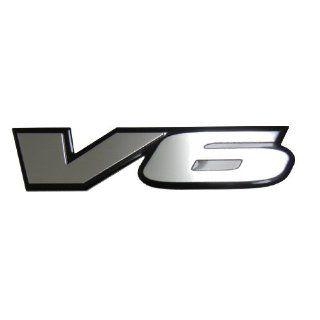 V6 Engine Badge Emblem for Honda Accord Odyssey Van Coupe Sedan Toyota