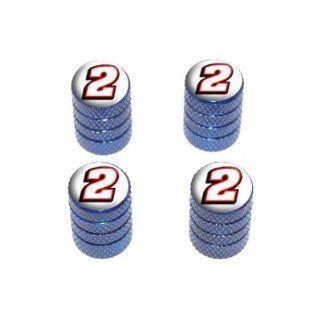 Number two   Tire Rim Wheel Valve Stem Caps   Blue