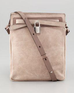 V1EVS Brunello Cucinelli Pearled Suede Crossbody Bag