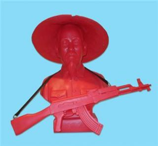 Red HO Chi Minh Designer Vinyl Bus Ar Figure by Aris Frank Kozik