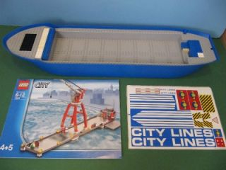 Lego Harbor 7994 City Lines Cargo SHIP Boat Base Plates Lot Box