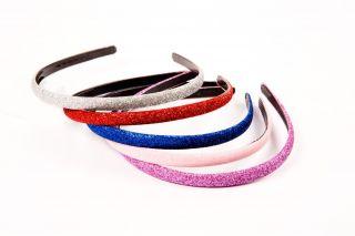 Bling Glitter Headbands Girls Hair Accessories Clip Comb Teeth Pink