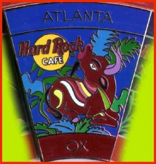 Hard Rock Cafe ATLANTA 2001 Chinese ZODIAC PIN   OX   New! (No CARD!)