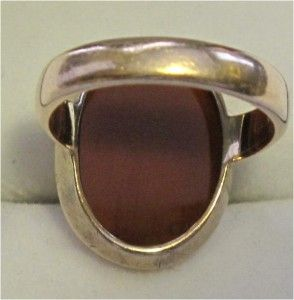 Antique Victorian 18K Gold Ring Hard Stone Cameo Hermes