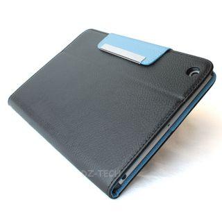 Black Light Blue Flip Wallet PU Leather Cover Case magnetic For Apple